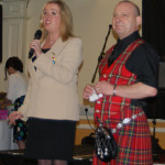 The High Sheriff of West Yorkshire, Mrs Virginia A Lloyd with band secretary Rob Newton